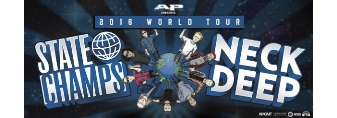 State Champs, Neck Deep announce North American leg of World Tour